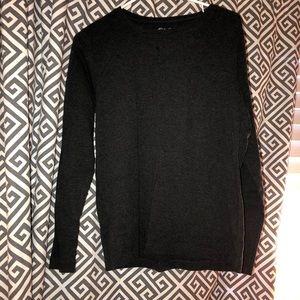 Super soft long sleeve charcoal colored shirt